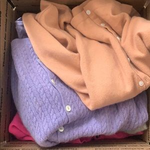 Custom lot of 9 cashmere sweaters with buttons